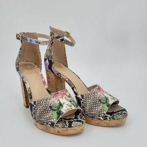 Vince Camuto Ciestie Cork Platform Sandal Sz 8
